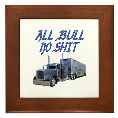 All Bull No Shit Framed Tile