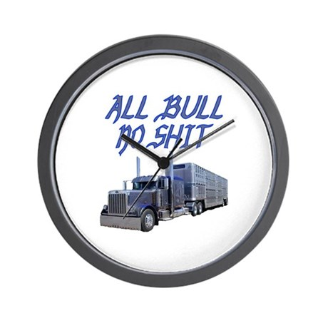 All Bull No Shit Wall Clock