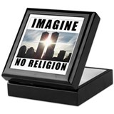 Cute Atheism Keepsake Box