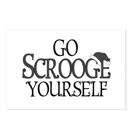 Go Scrooge Yourself Postcards (Package of 8)