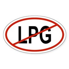 LPG Oval Decal