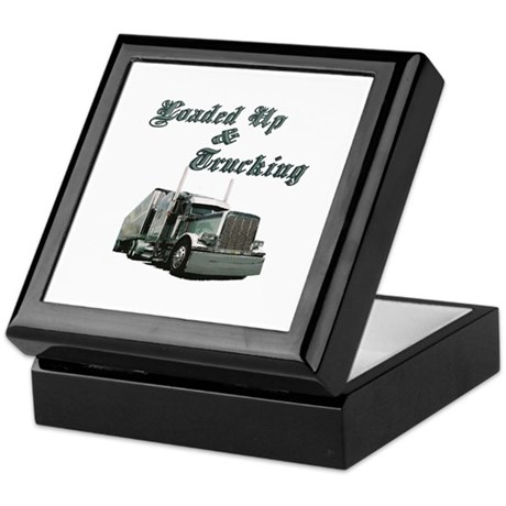Loaded Up & Trucking Keepsake Box