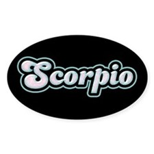 Retro Zodiac Scorpio Oval Decal