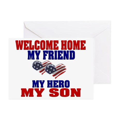 welcome home my son Greeting Cards (Pk of 10)