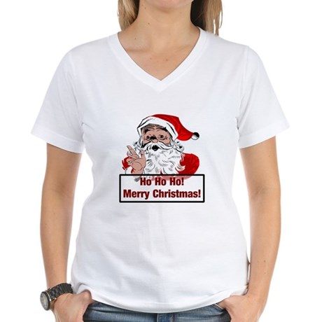 Santa Clause Women's V-Neck T-Shirt