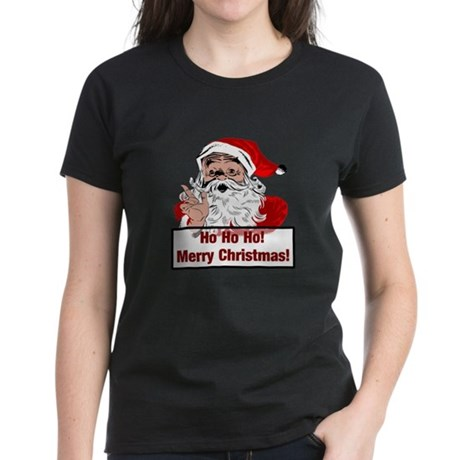 Santa Clause Women's Dark T-Shirt