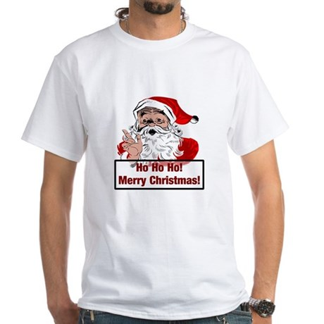 Santa Clause White T-Shirt