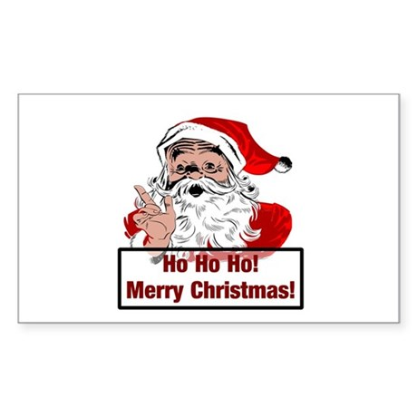 Santa Clause Rectangle Sticker