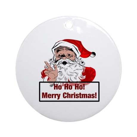 Santa Clause Ornament (Round)