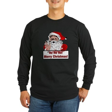 Santa Clause Long Sleeve Dark T-Shirt