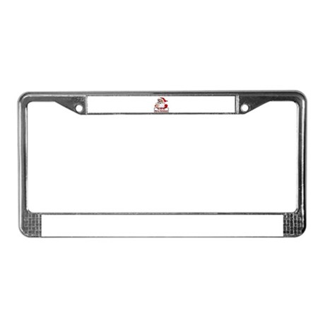 Santa Clause License Plate Frame