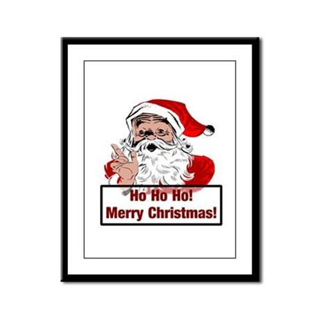 Santa Clause Framed Panel Print
