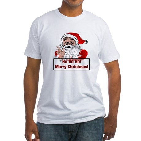 Santa Clause Fitted T-Shirt