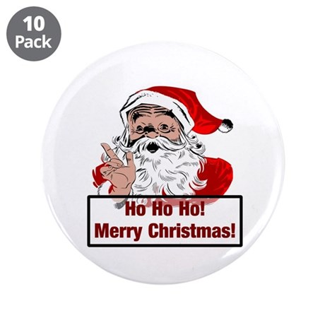 "Santa Clause 3.5"" Button (10 pack)"
