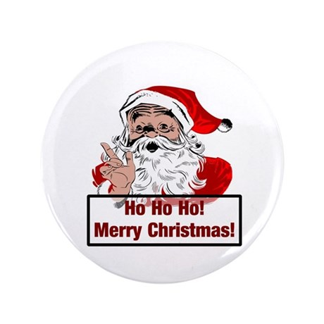 "Santa Clause 3.5"" Button (100 pack)"