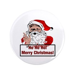 "Santa Clause 3.5"" Button"