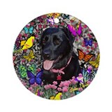 Abby in Butterflies Ornament (Round)