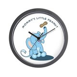 Mommy's little peanut - blue Wall Clock