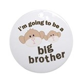 big brother to be monkey Ornament (Round)