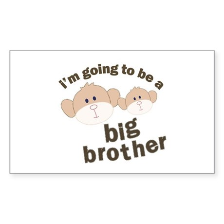 big brother to be monkey Rectangle Sticker