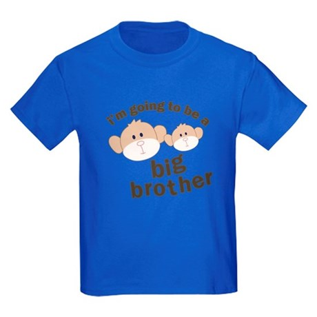 big brother to be monkey Kids Dark T-Shirt