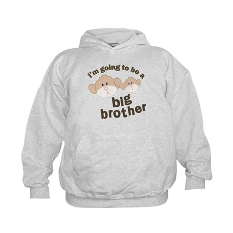 big brother to be monkey Kids Hoodie