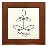 Yoga Glee in Black by Graphic Glee Framed Tile