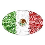 Textual Mexico Oval Decal