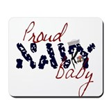 Proud Navy Baby Mousepad