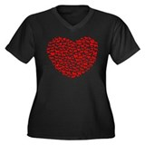 Love Dogs Women's Plus Size V-Neck Dark T-Shirt