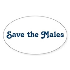 Save the Males Oval Decal