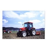 Red Tractor Cloudy Sky Postcards (Package of 8)