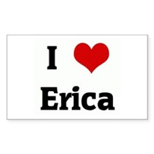 I Love Erica Rectangle Decal