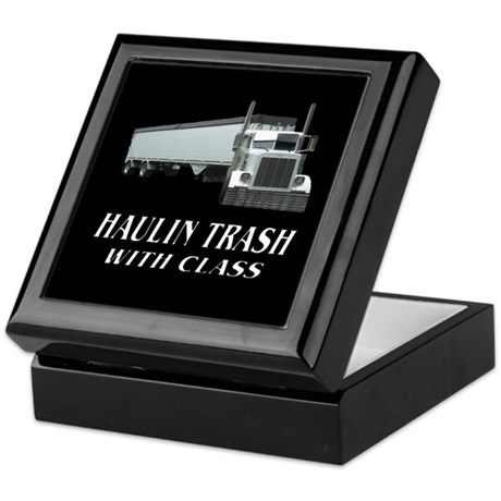 Haulin Trash With Class Keepsake Box