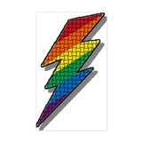 WOVEN RAINBOW LIGHTNING BOLT Rectangle Decal