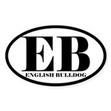 EB Abbreviation English Bulldog Decal