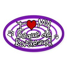 Hypno I Love My Dogue de Bordeaux Sticker Purp