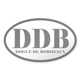 DDB Abbreviation Dog de Bordeaux Decal