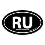 Russian Federation bumper sticker -Black (Oval)