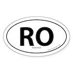 Romania country bumper sticker -White (Oval)