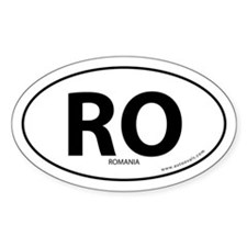 Romania country bumper sticker -White (Oval)