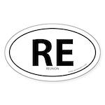 Reunion country bumper sticker -White (Oval)