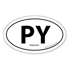 Paraguay country bumper sticker -White (Oval)