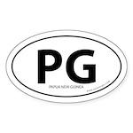 Papua New Guinea bumper sticker -White (Oval)