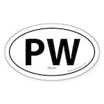 Palau country bumper sticker -White (Oval)