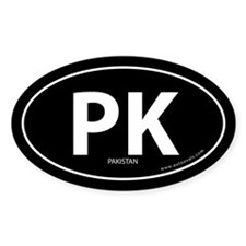 Pakistan country bumper sticker -Black (Oval)