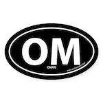 Oman country bumper sticker -Black (Oval)