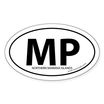 Northern Mariana Islands bumper sticker White Oval
