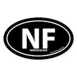 Norfolk Island bumper sticker -Black (Oval)