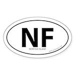 Norfolk Island bumper sticker -White (Oval)